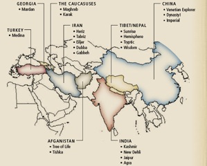 Regional Map of Rug Makers